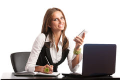 The boss - Preety business secretarry woman working in office is Stock Images