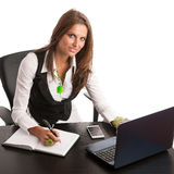 The boss - Preety business secretarry woman working in office is Stock Photos
