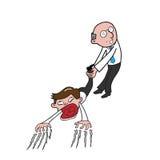 Boss pulling businessman stock illustration