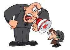 Boss que grita en su trabajador 3 libre illustration