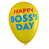 Boss's Day Balloon. Happy Boss's Day balloon Royalty Free Stock Photos