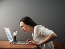 Boss scolding bad worker Royalty Free Stock Images