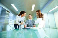 Boss and secretaries Royalty Free Stock Images