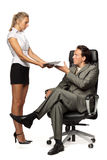 Boss and secretary Royalty Free Stock Images