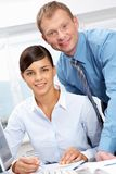 Boss and secretary Stock Images