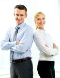 Boss and secretary Royalty Free Stock Image