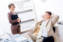 Boss and Secretary Stock Photography