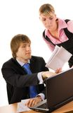 Boss with a secretary Royalty Free Stock Photography