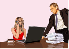 Boss and secretary Royalty Free Stock Photo