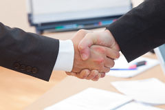 Boss is shaking hands Royalty Free Stock Photo
