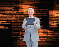 Boss showing a touch pad screen Stock Image