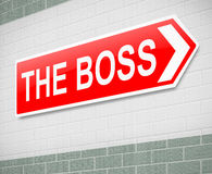 The Boss sign. Stock Photography