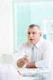 Boss speaking Stock Images