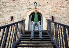 Boss on the stairs Royalty Free Stock Photography
