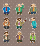 Boss stickers Royalty Free Stock Images