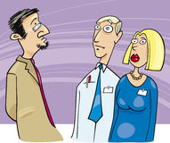 Boss talking to employees vector illustration