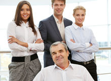 Boss with team Stock Photography