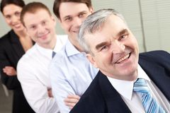 Boss and team royalty free stock photo