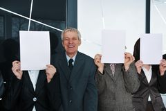 Boss and three businesswoman Royalty Free Stock Photos