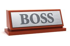 Boss title on nameplate Stock Image