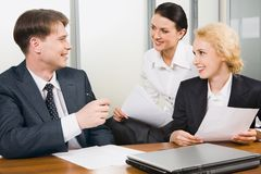 Boss trains his people Stock Photography