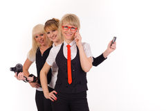Boss and two helpers Royalty Free Stock Images