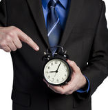 Boss upset because you are late Stock Images