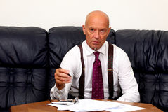 The boss at work Stock Photography