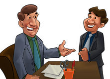 Boss and worker Royalty Free Stock Photo
