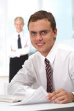 Boss at workplace Royalty Free Stock Images
