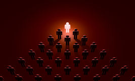 Boss (symbolic figures of people). 3D illustration rendering Stock Photos