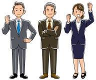 Boss y empleados de sexo masculino y de sexo femenino jovenes ilustración del vector