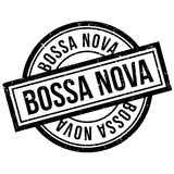 Bossa Nova rubber stamp. Grunge design with dust scratches. Effects can be easily removed for a clean, crisp look. Color is easily changed Stock Images