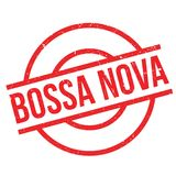 Bossa Nova rubber stamp Royalty Free Stock Photo