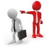 Bossage écartant un employé illustration libre de droits