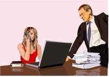 Bossage et secrétaire illustration libre de droits