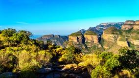 Bossen en Bergen langs de Panoramaroute in Mpumalanga-Provincie stock afbeelding