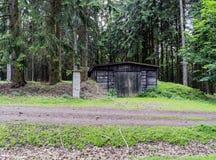 Bossen jachtgebied in het dorp van Velke-mezirici in stock foto's