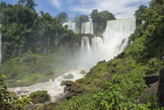Bossetti Waterfall at Iguassu Stock Photos