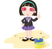 Bossy Beach. Bossy looking girl at the beach Stock Photography