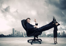 Bossy biznesmen Zdjęcie Stock