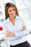 Bossy business woman Stock Image