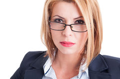Bossy business woman Stock Images