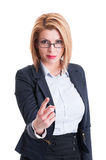 Bossy business woman concept Stock Photos