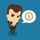 Bossy counting time. It is vector and illustration Stock Image
