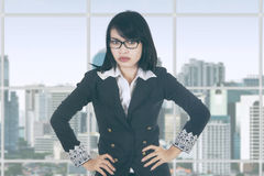 Bossy female entrepreneur in office Stock Photography