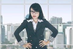 Bossy female entrepreneur in office Stock Photography