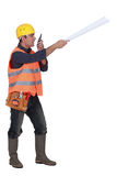 Bossy foreman Royalty Free Stock Photography