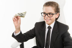 Bossy little businessman. Stock Images