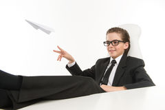 Bossy little businessman. Royalty Free Stock Photos